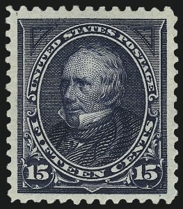 Sale Number 975, Lot Number 1585, 1895 Watermarked Bureau Issue (Scott 264-278)15c Dark Blue (274), 15c Dark Blue (274)