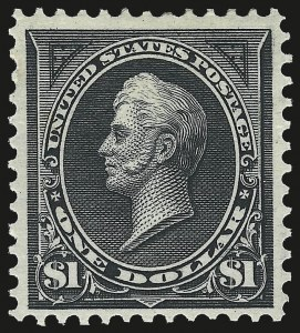 Sale Number 975, Lot Number 1590, 1895 Watermarked Bureau Issue (Scott 264-278)$1.00 Black, Ty. I (276), $1.00 Black, Ty. I (276)