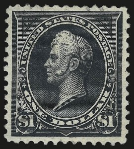 Sale Number 975, Lot Number 1592, 1895 Watermarked Bureau Issue (Scott 264-278)$1.00 Black, Ty. II (276A), $1.00 Black, Ty. II (276A)