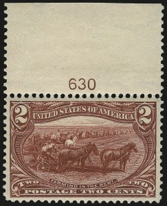 Sale Number 975, Lot Number 1613, 1898 Trans-Mississippi Issue (Scott 285-293)2c Trans-Mississippi (286), 2c Trans-Mississippi (286)
