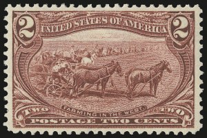 Sale Number 975, Lot Number 1614, 1898 Trans-Mississippi Issue (Scott 285-293)2c Trans-Mississippi (286), 2c Trans-Mississippi (286)