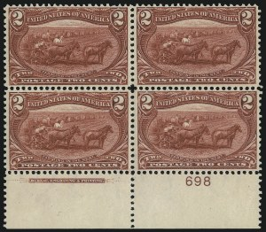 Sale Number 975, Lot Number 1615, 1898 Trans-Mississippi Issue (Scott 285-293)2c Trans-Mississippi (286), 2c Trans-Mississippi (286)