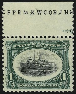 Sale Number 975, Lot Number 1644, 1901 Pan-American Issue (Scott 294-299)1c Pan-American (294), 1c Pan-American (294)