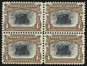 Sale Number 975, Lot Number 1647, 1901 Pan-American Issue (Scott 294-299)4c Pan-American (296), 4c Pan-American (296)