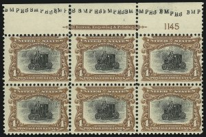 Sale Number 975, Lot Number 1648, 1901 Pan-American Issue (Scott 294-299)4c Pan-American (296), 4c Pan-American (296)