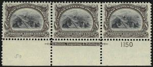 Sale Number 975, Lot Number 1649, 1901 Pan-American Issue (Scott 294-299)8c Pan-American (298), 8c Pan-American (298)