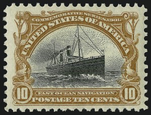 Sale Number 975, Lot Number 1651, 1901 Pan-American Issue (Scott 294-299)10c Pan-American (299), 10c Pan-American (299)
