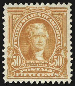 Sale Number 975, Lot Number 1669, 1902-08 Issues (Scott 300-322)50c Orange (310), 50c Orange (310)