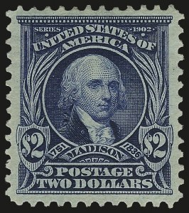 Sale Number 975, Lot Number 1678, 1902-08 Issues (Scott 300-322)$2.00 Dark Blue (312), $2.00 Dark Blue (312)