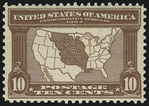 Sale Number 975, Lot Number 1703, 1904 Louisiana Purchase, Jamestown Issues (Scott 323-330)10c Louisiana Purchase (327), 10c Louisiana Purchase (327)
