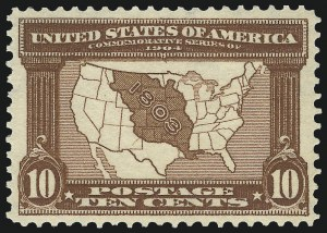Sale Number 975, Lot Number 1704, 1904 Louisiana Purchase, Jamestown Issues (Scott 323-330)10c Louisiana Purchase (327), 10c Louisiana Purchase (327)
