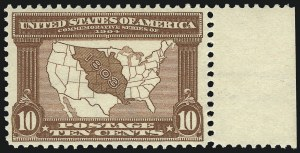 Sale Number 975, Lot Number 1705, 1904 Louisiana Purchase, Jamestown Issues (Scott 323-330)10c Louisiana Purchase (327), 10c Louisiana Purchase (327)