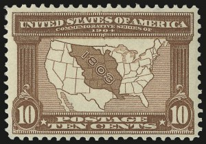 Sale Number 975, Lot Number 1706, 1904 Louisiana Purchase, Jamestown Issues (Scott 323-330)10c Louisiana Purchase (327), 10c Louisiana Purchase (327)
