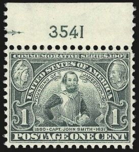Sale Number 975, Lot Number 1708, 1904 Louisiana Purchase, Jamestown Issues (Scott 323-330)1c Jamestown (328), 1c Jamestown (328)