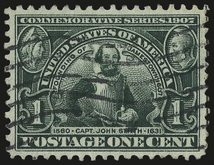 Sale Number 975, Lot Number 1709, 1904 Louisiana Purchase, Jamestown Issues (Scott 323-330)1c Jamestown (328), 1c Jamestown (328)