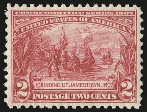 Sale Number 975, Lot Number 1710, 1904 Louisiana Purchase, Jamestown Issues (Scott 323-330)2c Jamestown (329), 2c Jamestown (329)