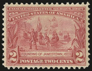 Sale Number 975, Lot Number 1711, 1904 Louisiana Purchase, Jamestown Issues (Scott 323-330)2c Jamestown (329), 2c Jamestown (329)