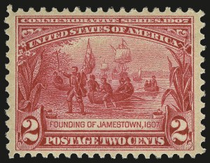 Sale Number 975, Lot Number 1712, 1904 Louisiana Purchase, Jamestown Issues (Scott 323-330)2c Jamestown (329), 2c Jamestown (329)
