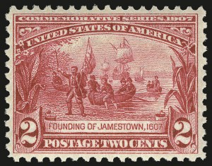 Sale Number 975, Lot Number 1713, 1904 Louisiana Purchase, Jamestown Issues (Scott 323-330)2c Jamestown (329), 2c Jamestown (329)