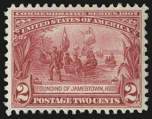 Sale Number 975, Lot Number 1714, 1904 Louisiana Purchase, Jamestown Issues (Scott 323-330)2c Jamestown (329), 2c Jamestown (329)