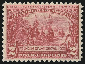Sale Number 975, Lot Number 1715, 1904 Louisiana Purchase, Jamestown Issues (Scott 323-330)2c Jamestown (329), 2c Jamestown (329)