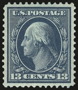 Sale Number 975, Lot Number 1726, 1908-10 Washington-Franklin Issues (Scott 331-356)13c Blue Green (339), 13c Blue Green (339)
