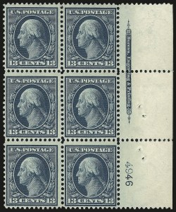 Sale Number 975, Lot Number 1728, 1908-10 Washington-Franklin Issues (Scott 331-356)13c Blue Green (339), 13c Blue Green (339)
