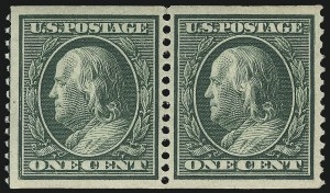 Sale Number 975, Lot Number 1746, 1908-10 Washington-Franklin Issues (Scott 331-356)1c Green, Coil (352), 1c Green, Coil (352)