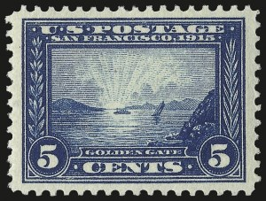 Sale Number 975, Lot Number 1798, 1913-15 Panama-Pacific Issue (Scott 397-404)5c Panama-Pacific (399), 5c Panama-Pacific (399)