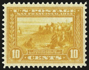 Sale Number 975, Lot Number 1801, 1913-15 Panama-Pacific Issue (Scott 397-404)10c Orange Yellow, Panama-Pacific (400), 10c Orange Yellow, Panama-Pacific (400)