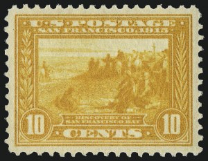 Sale Number 975, Lot Number 1802, 1913-15 Panama-Pacific Issue (Scott 397-404)10c Orange Yellow, Panama-Pacific (400), 10c Orange Yellow, Panama-Pacific (400)