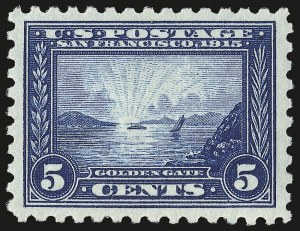 Sale Number 975, Lot Number 1814, 1913-15 Panama-Pacific Issue (Scott 397-404)5c Panama-Pacific, Perf 10 (403), 5c Panama-Pacific, Perf 10 (403)