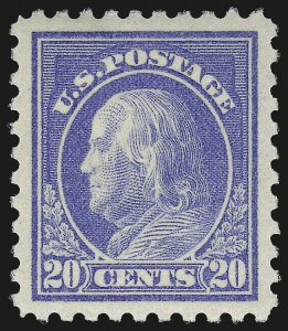 Sale Number 975, Lot Number 1859, 1913-15 Washington-Franklin Issues (Scott 424-460)20c Ultramarine (438), 20c Ultramarine (438)