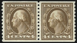 Sale Number 975, Lot Number 1874, 1913-15 Washington-Franklin Issues (Scott 424-460)4c Brown, Coil (446), 4c Brown, Coil (446)