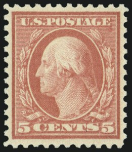 Sale Number 975, Lot Number 1923, 1917-19 Issues (Scott 481-524)5c Rose, Error (505), 5c Rose, Error (505)