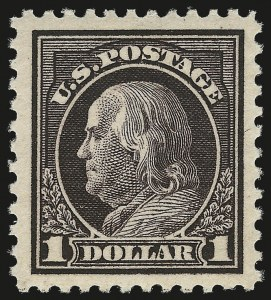 Sale Number 975, Lot Number 1937, 1917-19 Issues (Scott 481-524)$1.00 Violet Brown (518), $1.00 Violet Brown (518)