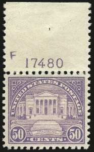 Sale Number 975, Lot Number 1986, 1922-29 Issues (Scott 551-573)50c Lilac (570), 50c Lilac (570)