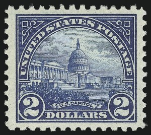 Sale Number 975, Lot Number 1989, 1922-29 Issues (Scott 551-573)$2.00 Deep Blue (572), $2.00 Deep Blue (572)