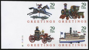 Sale Number 975, Lot Number 2097, Modern ErrorsChristmas Toys, Booklet Pane, Imperforate (2718aP), Christmas Toys, Booklet Pane, Imperforate (2718aP)