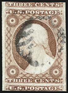Sale Number 976, Lot Number 1149, 1c-3c 1851-56 Issue (Scott 5-11)3c Dull Red, Ty. II (11A), 3c Dull Red, Ty. II (11A)