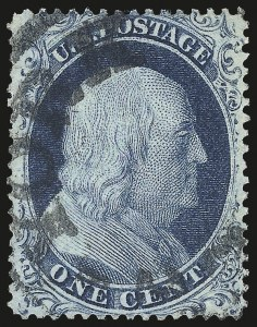 Sale Number 976, Lot Number 1200, 1c-3c 1857-60 Issue (Scott 18-26A)1c Blue, Ty. II (20), 1c Blue, Ty. II (20)