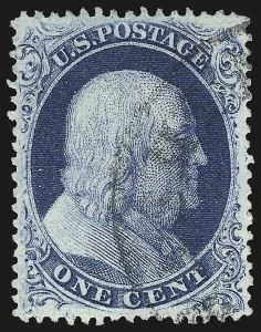 Sale Number 976, Lot Number 1201, 1c-3c 1857-60 Issue (Scott 18-26A)1c Blue, Type III (21), 1c Blue, Type III (21)