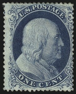 Sale Number 976, Lot Number 1203, 1c-3c 1857-60 Issue (Scott 18-26A)1c Blue, Ty. IIIa (22), 1c Blue, Ty. IIIa (22)