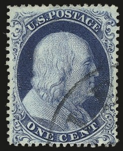 Sale Number 976, Lot Number 1205, 1c-3c 1857-60 Issue (Scott 18-26A)1c Blue, Ty. IIIa (22), 1c Blue, Ty. IIIa (22)