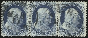 Sale Number 976, Lot Number 1206, 1c-3c 1857-60 Issue (Scott 18-26A)1c Blue, Ty. IIIa (22), 1c Blue, Ty. IIIa (22)