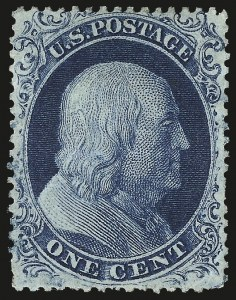 Sale Number 976, Lot Number 1207, 1c-3c 1857-60 Issue (Scott 18-26A)1c Blue, Ty. IV (23), 1c Blue, Ty. IV (23)