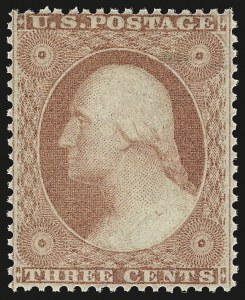 Sale Number 976, Lot Number 1213, 1c-3c 1857-60 Issue (Scott 18-26A)3c Dull Red, Ty. III (26). Mint N.H, 3c Dull Red, Ty. III (26). Mint N.H