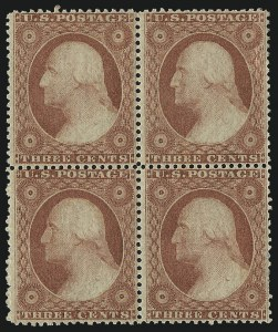 Sale Number 976, Lot Number 1214, 1c-3c 1857-60 Issue (Scott 18-26A)3c Dull Red, Ty. III (26), 3c Dull Red, Ty. III (26)