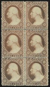 Sale Number 976, Lot Number 1215, 1c-3c 1857-60 Issue (Scott 18-26A)3c Dull Red, Ty. III (26), 3c Dull Red, Ty. III (26)
