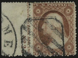 Sale Number 976, Lot Number 1216, 1c-3c 1857-60 Issue (Scott 18-26A)3c Dull Red, Ty. III (26), 3c Dull Red, Ty. III (26)